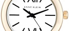 Anne Klein Women's 10/9652WTCB Gold-Tone White and Black Checked Resin Bangle Watch